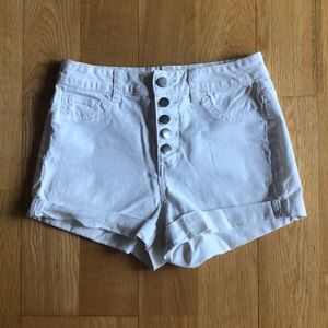 3/$30 forever 21 white high waisted shorts size 24